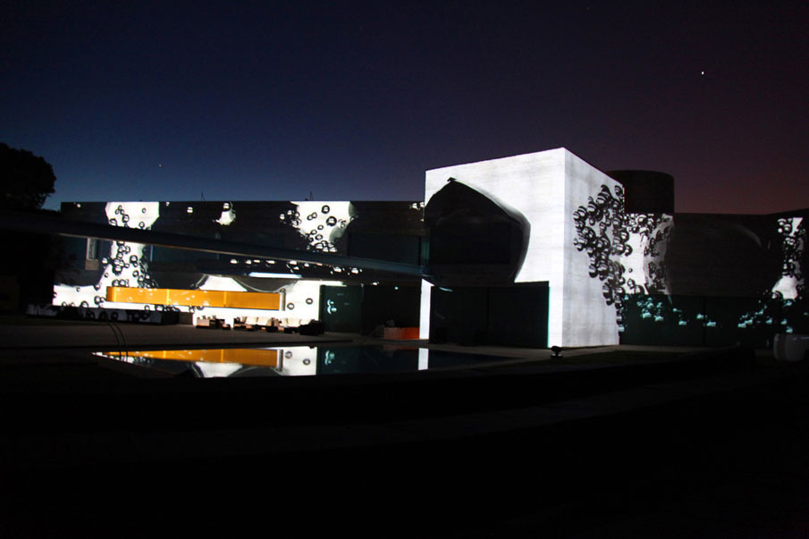 3D mapping projection for the architecture studio A-cero.