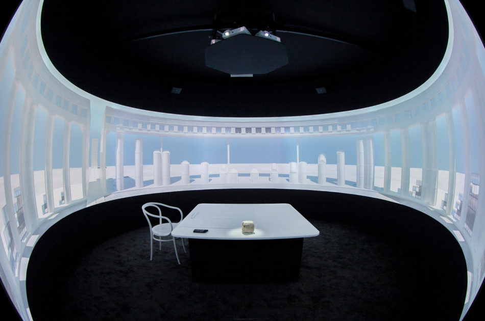 "Detail of the 360º mapping for the exhibition ""Time, Space, Existence"" at the Venice Architecture Biennale 2014."