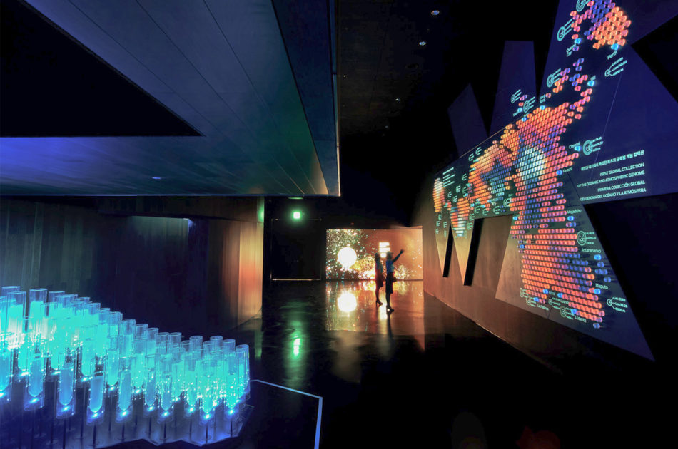 Another view of the installation for the Spanish Pavilion at World Expo Yeosu 2012 by Onionlab.