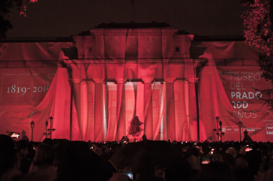El Prado Bicentenario 3D mapping projection El Prado