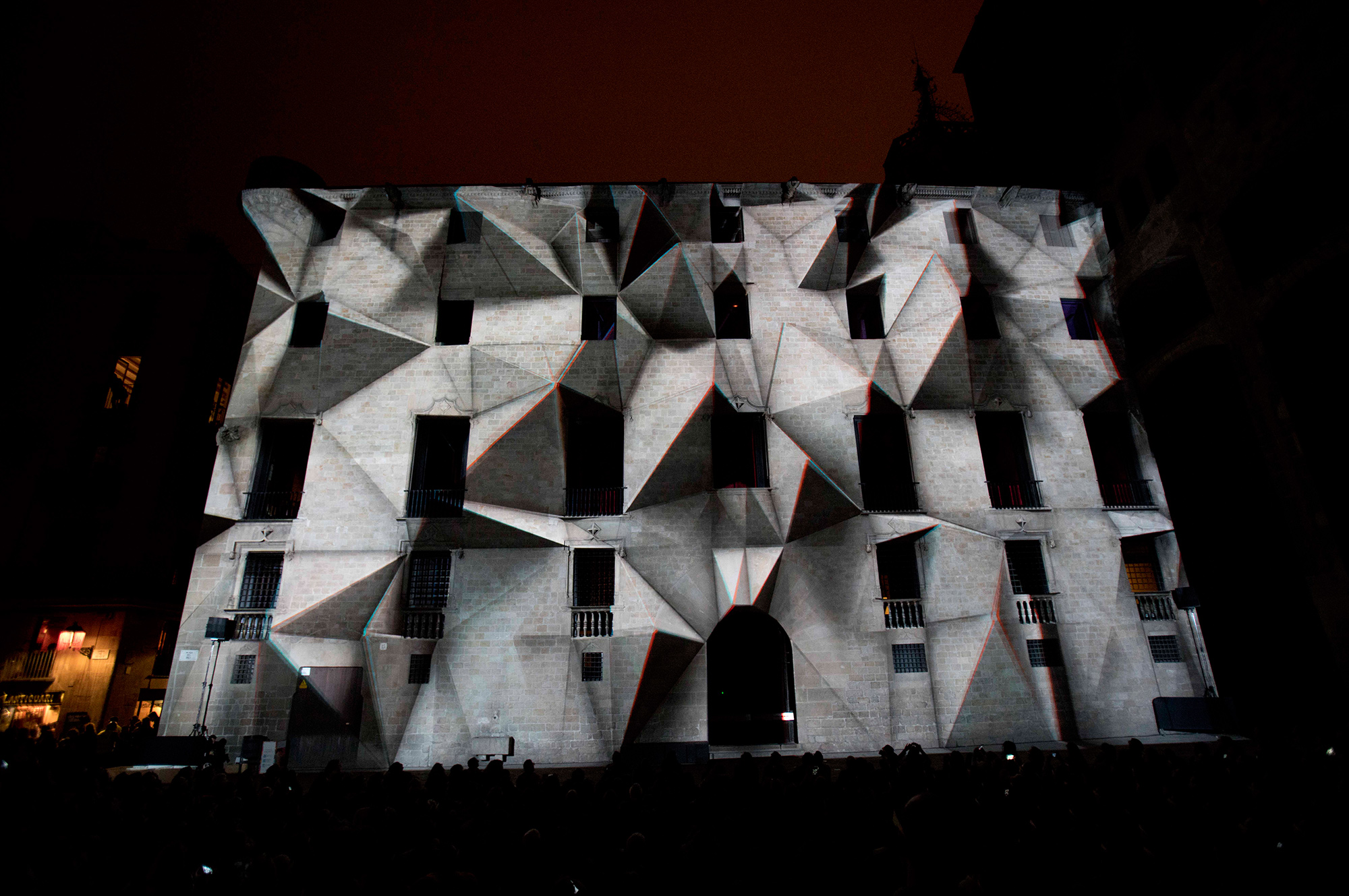3D projection mapping for Llum Bcn Festival in Barcelona.