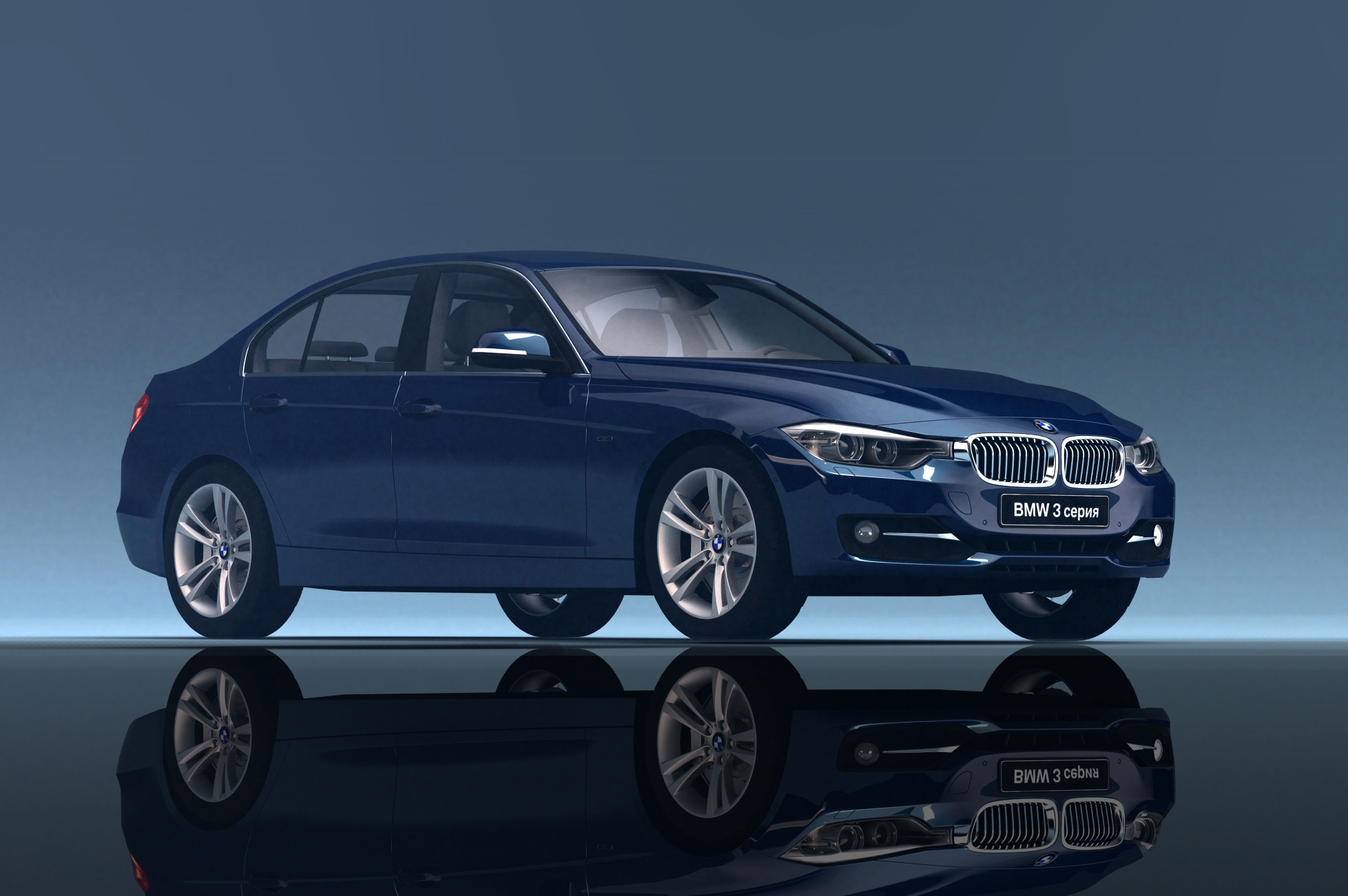 3D render from a piece created for BMW to present the new 5 series model.