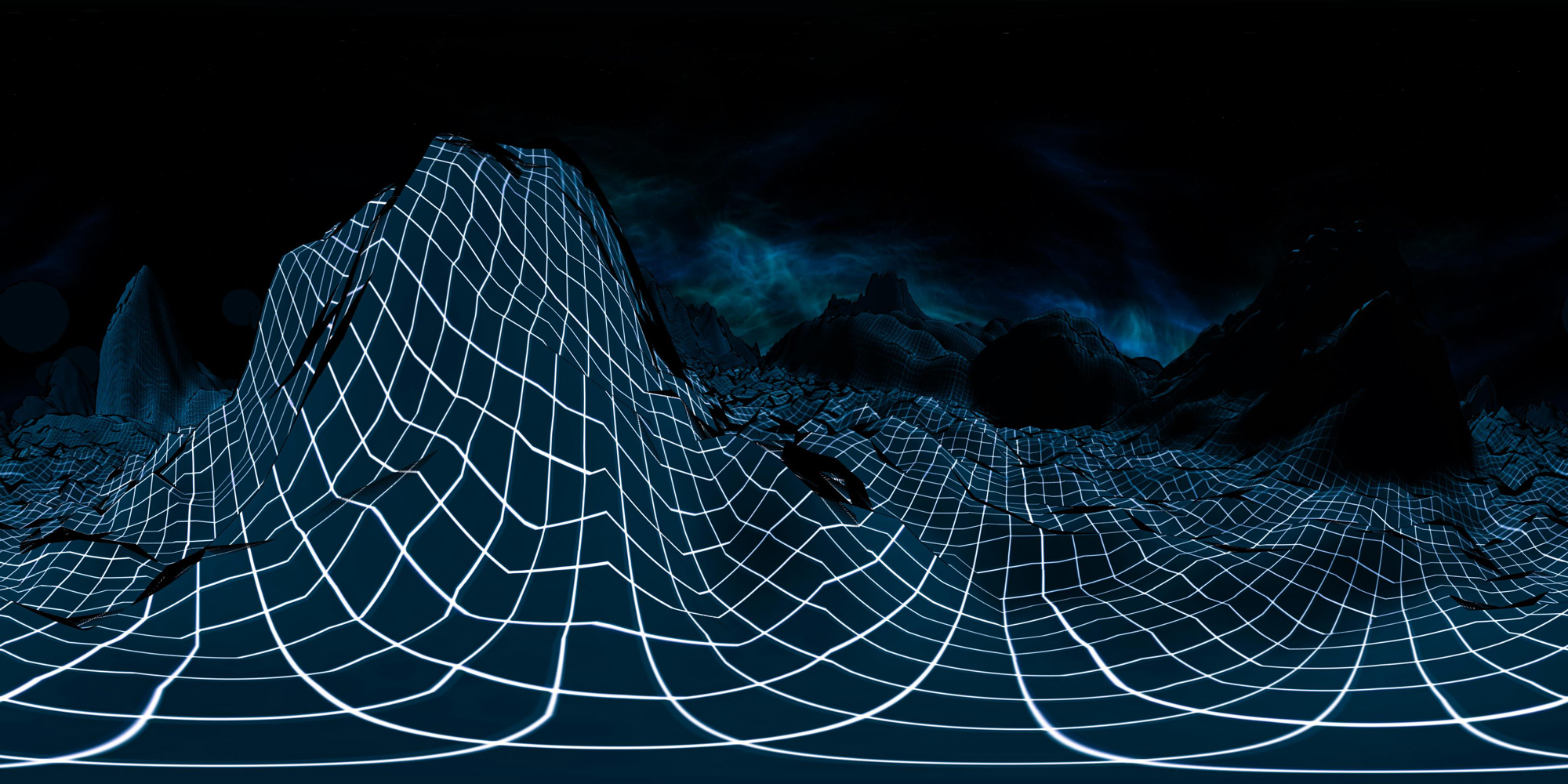 Another still image of the virtual reality music video created by Onionlab for the Catalan artist Undo.