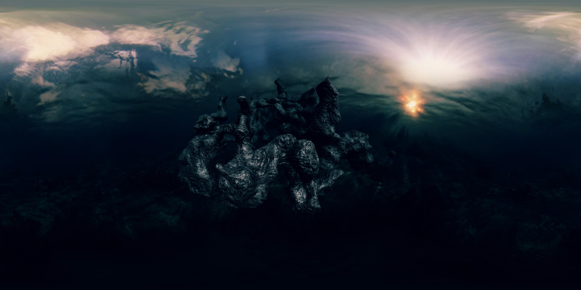 Another still image of the virtual reality music video created by Onionlab for the Catalan artist Undo