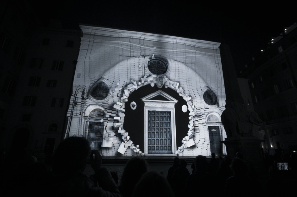 3D mapping Diplopia Solid Light Festival