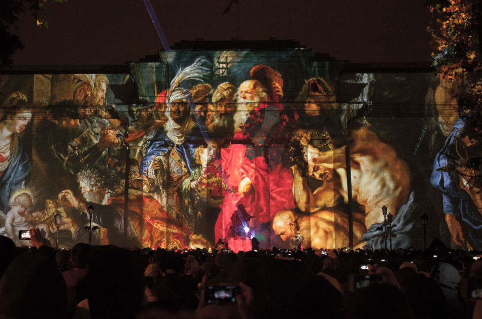 3D mapping projection Bicentenario El Prado