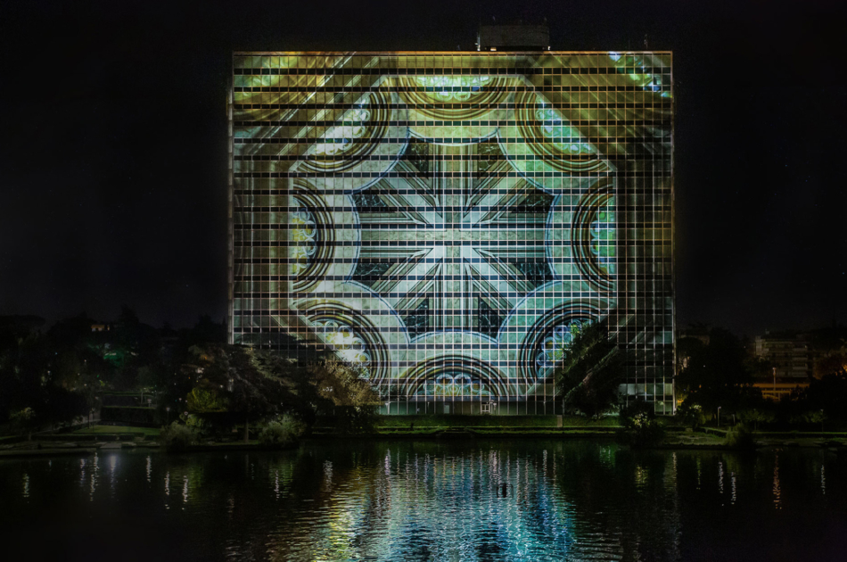 3D mapping Paradoxa Solid Light Festival